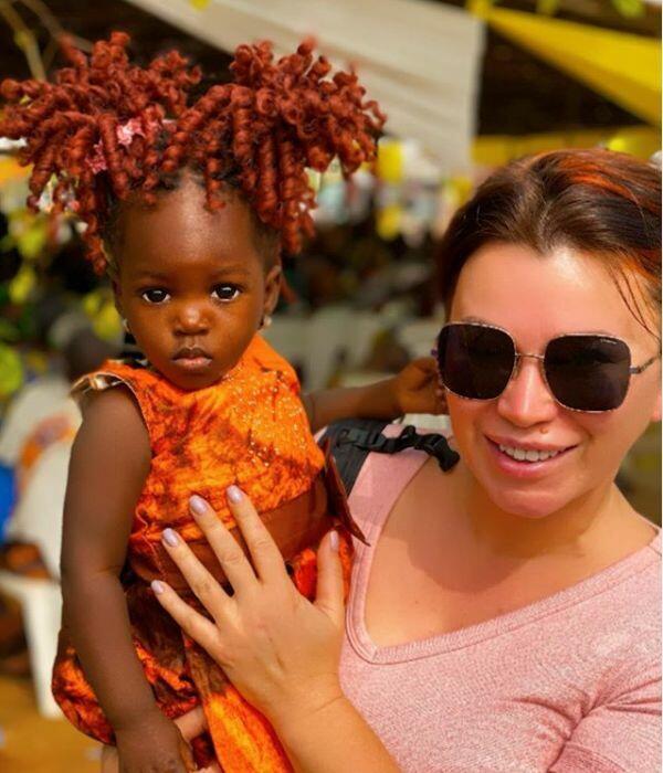 Арина Шумакова в Африке